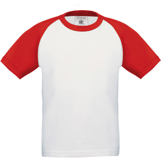 B&C | Base-Ball /kids - Kinder Raglan Kontrast T-Shirt