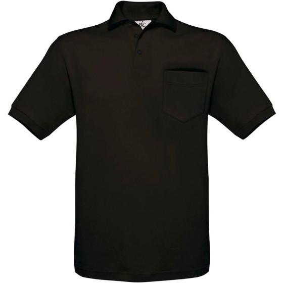 B&C | Safran Pocket - Piqué Polo mit Brusttasche