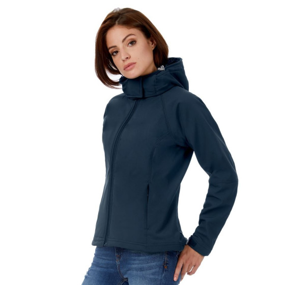 B&C | Hooded Softshell /women - Damen Softshell Jacke