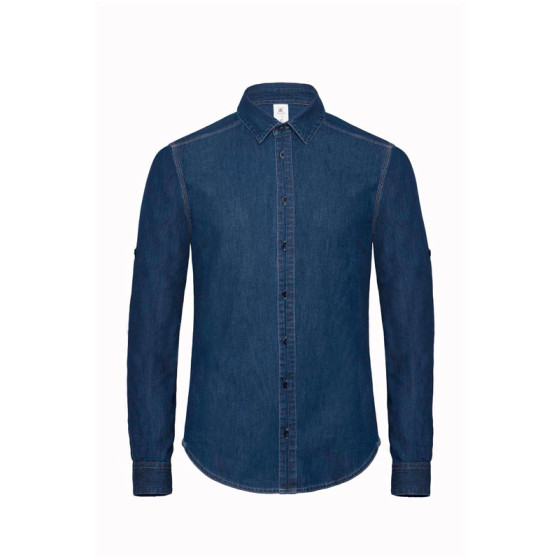 B&C | DNM Vision /men - Denim Twill Hemd langarm