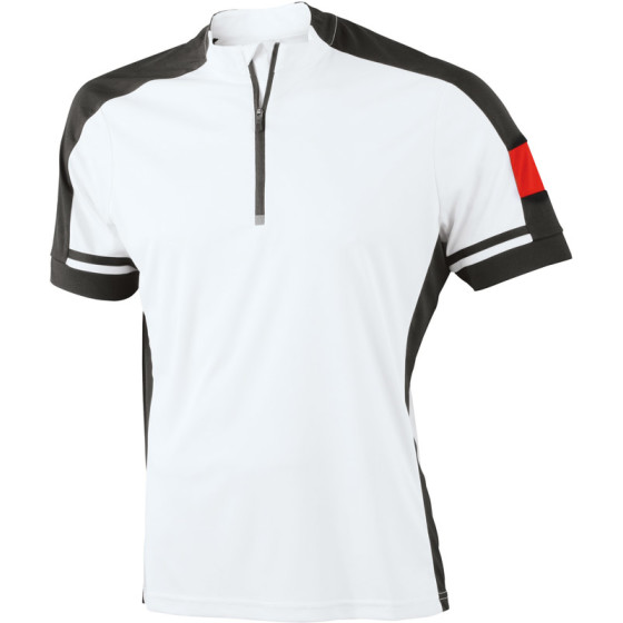 James & Nicholson   JN 452 - Herren Rad Shirt mit 1/2 Zip