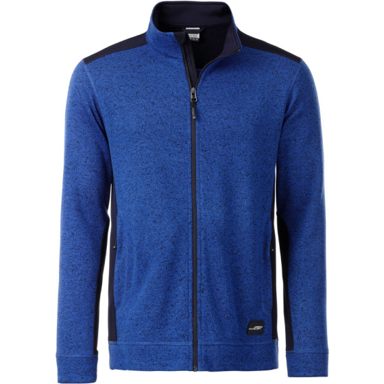 James & Nicholson | JN 862 - Herren Workwear Strickfleece Jacke