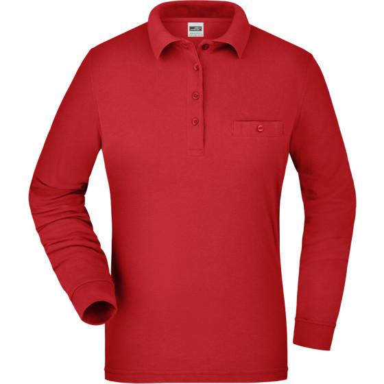 James & Nicholson | JN 865 - Damen Workwear Polo mit Brusttasche langarm