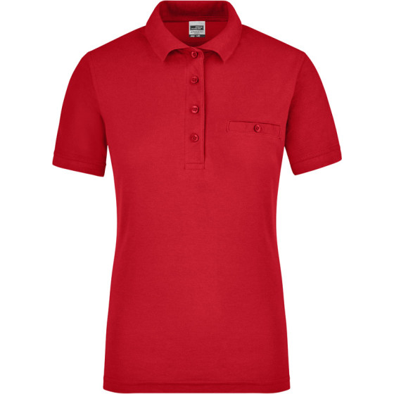 James & Nicholson   JN 867 - Damen Workwear Polo mit Brusttasche