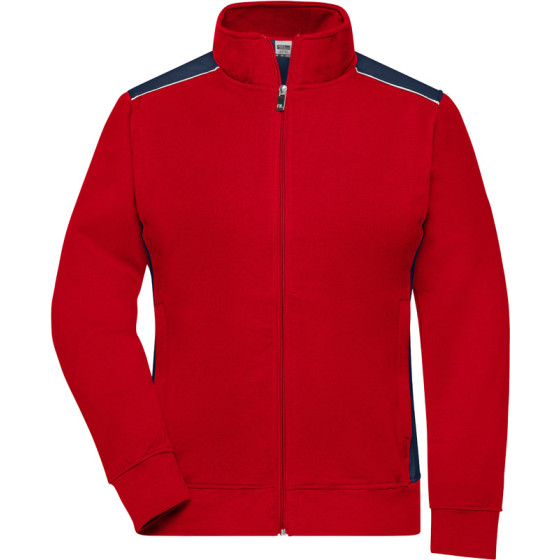 James & Nicholson | JN 869 - Damen Workwear Sweat Jacke - Level 2