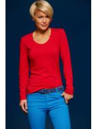 James & Nicholson   JN 927 - Damen Stretch T-Shirt langarm