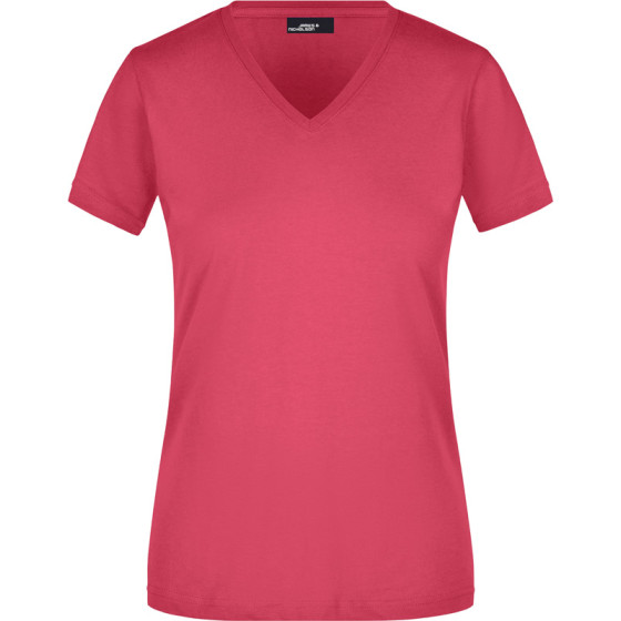 James & Nicholson | JN 972 - Tailliertes Damen V-Ausschnitt T-Shirt