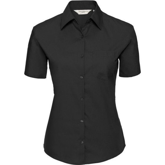 Russell | 937F - Popeline Bluse kurzarm