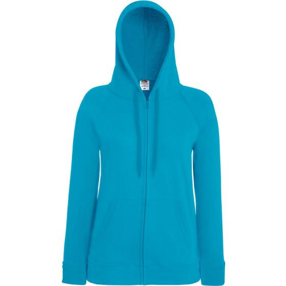 F.O.L. | Lady-Fit LW Hooded Sweat Jacket - Damen Kapuzen Sweatjacke