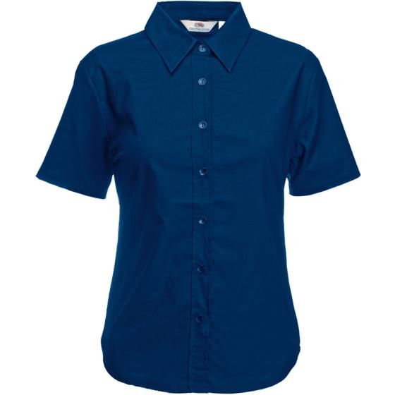 F.O.L. | Lady-Fit Oxford Shirt SSL - Oxford Bluse kurzarm