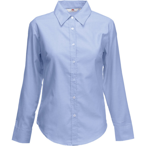 F.O.L. | Lady-Fit Oxford Shirt LSL - Oxford Bluse langarm
