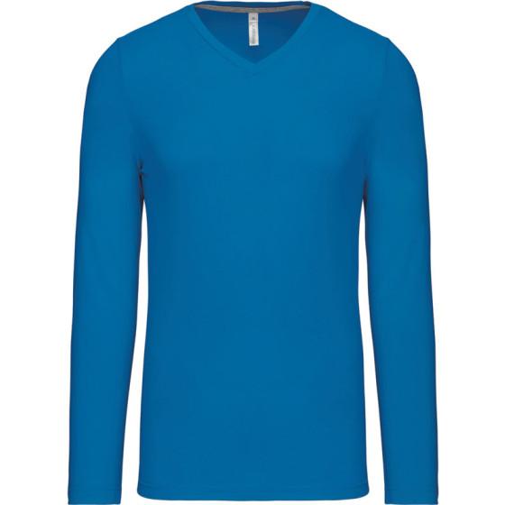 Kariban | K358 - Herren V-Ausschnitt T-Shirt langarm