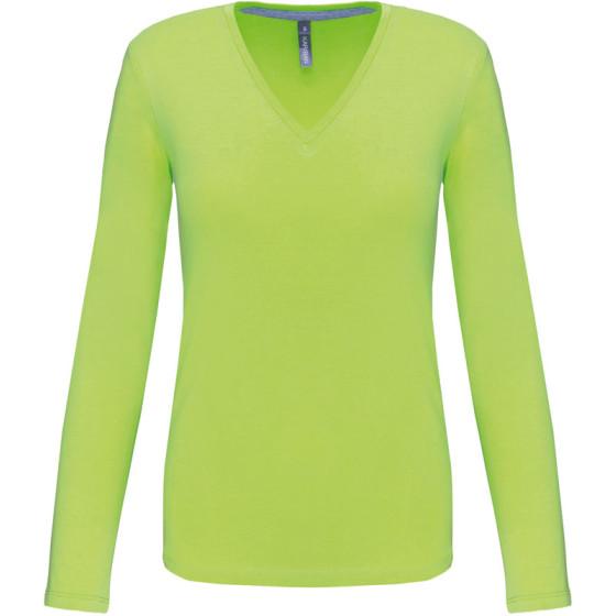 Kariban | K382 - Damen V-Ausschnitt T-Shirt langarm