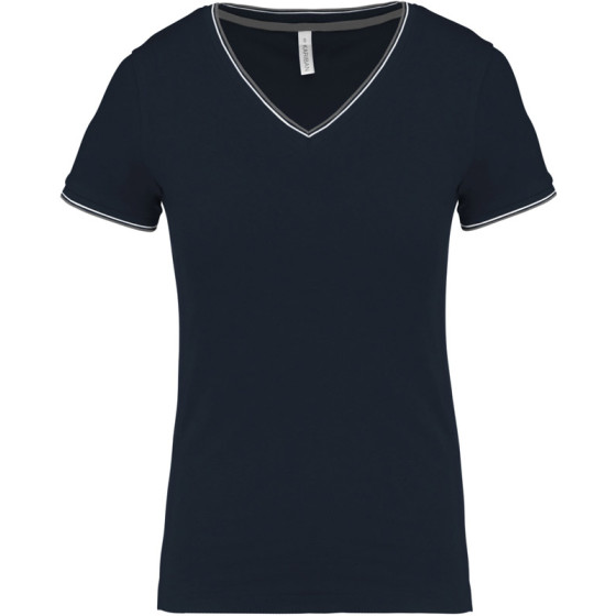 Kariban | K394 - Damen Piqué V-Neck T-Shirt