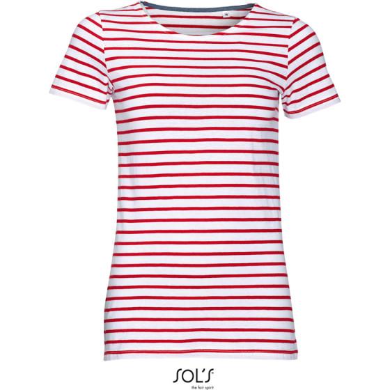SOLS | Miles Women - Damen T-Shirt gestreift