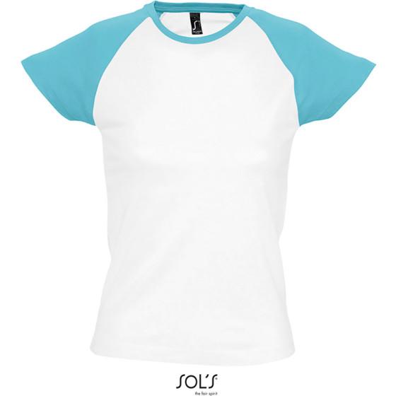 SOLS   Milky - Damen Raglan T-Shirt 2-farbig