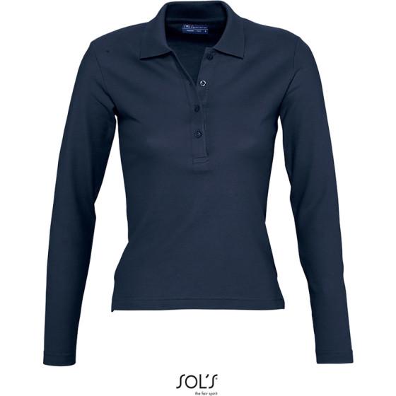 SOLS | Podium - Damen Piqué Polo langarm