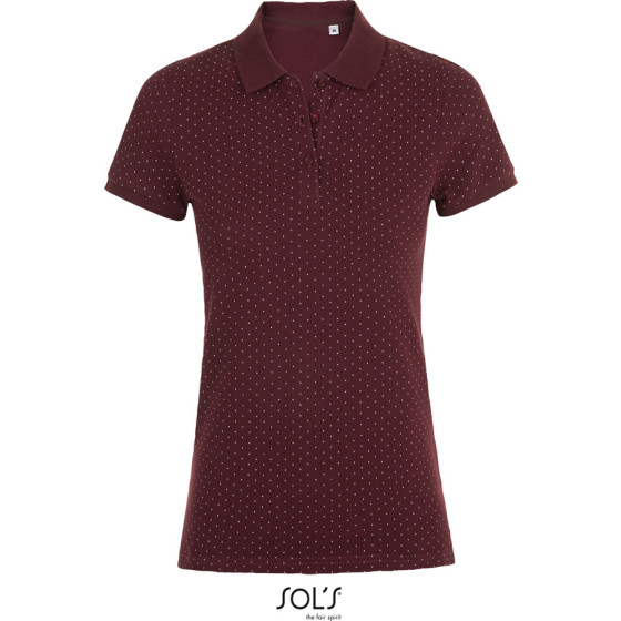 SOLS | Brandy Women - Damen Piqué Polo gepunktet