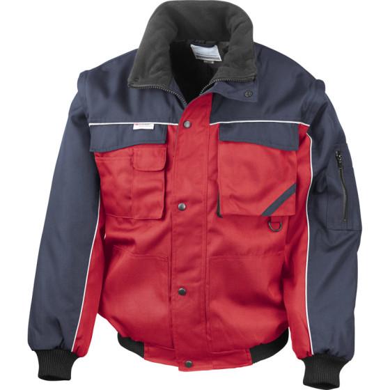 Result Work-Guard | R071X - Workwear Jacke mit abnehmbaren Ärmeln