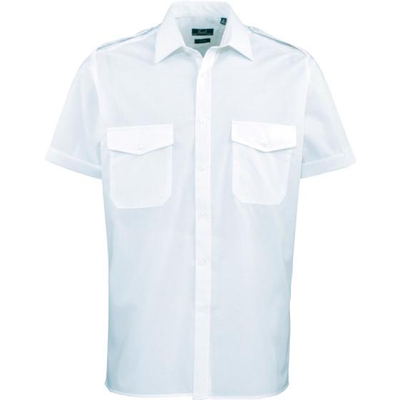 Premier | PR212 - Piloten Hemd kurzarm