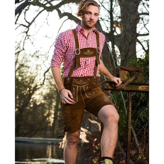 Leather Trousers short/men - Herren Lederhose kurz