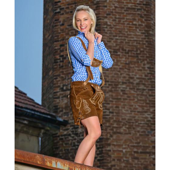 Leather Trousers short/women - Damen Lederhose kurz