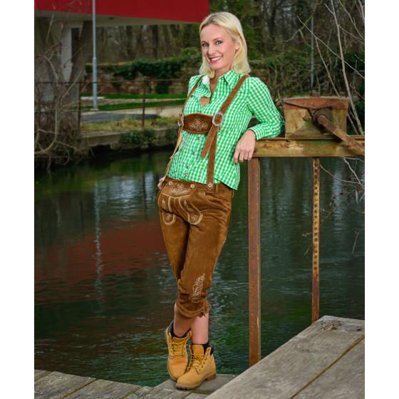 Leather Trousers long/women - Damen Lederhose lang