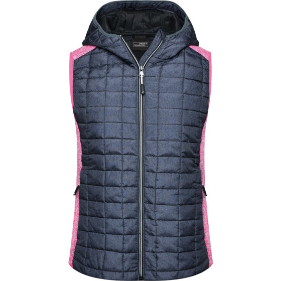James & Nicholson | JN 767 - Damen Hybrid Strickfleece Gilet
