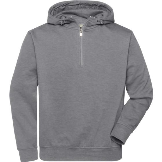 James & Nicholson | JN 839 - Bio Workwear Halfzip Kapuzen Sweater