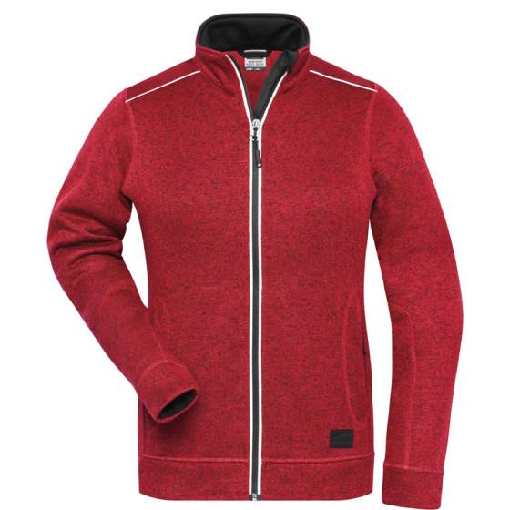 James & Nicholson   JN 897 - Damen Workwear Strickfleece Jacke - Solid
