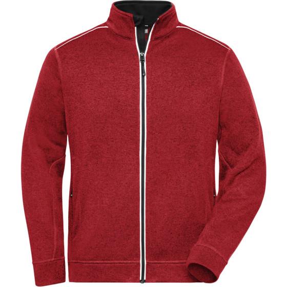 James & Nicholson | JN 898 - Herren Workwear Strickfleece Jacke - Solid