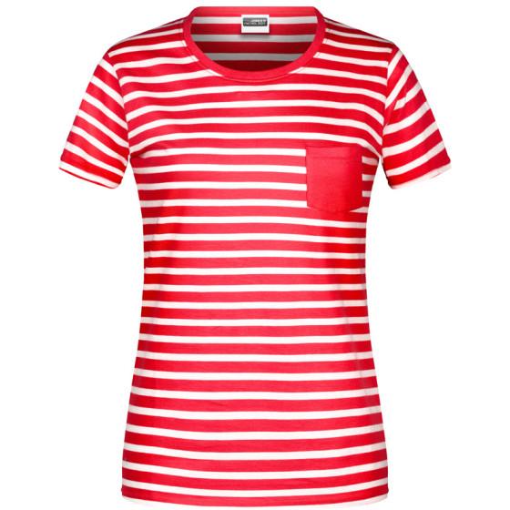 James & Nicholson | JN 8027 - Damen T-Shirt gestreift