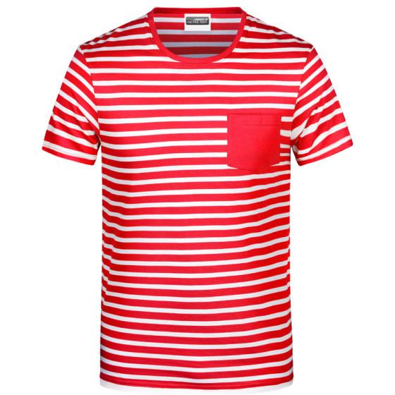 James & Nicholson   JN 8028 - Herren T-Shirt gestreift