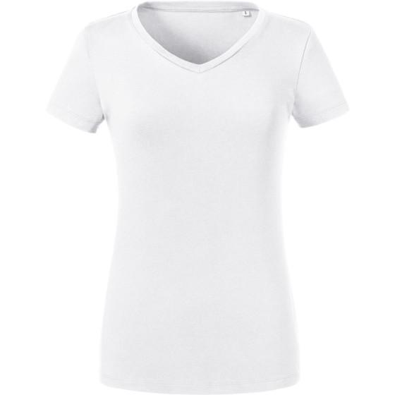 Russell   103F - Damen Bio V-Ausschnitt T-Shirt