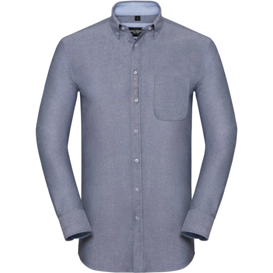 Russell   920M - Washed Oxford Hemd langarm
