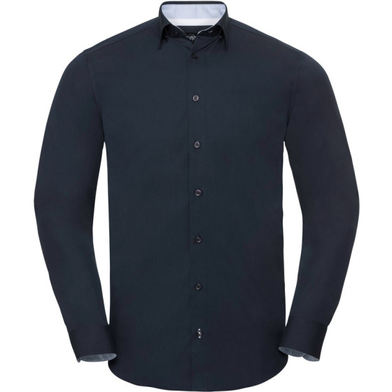 "Russell   966M - Kontrast Hemd ""Ultimate Stretch"" langarm"