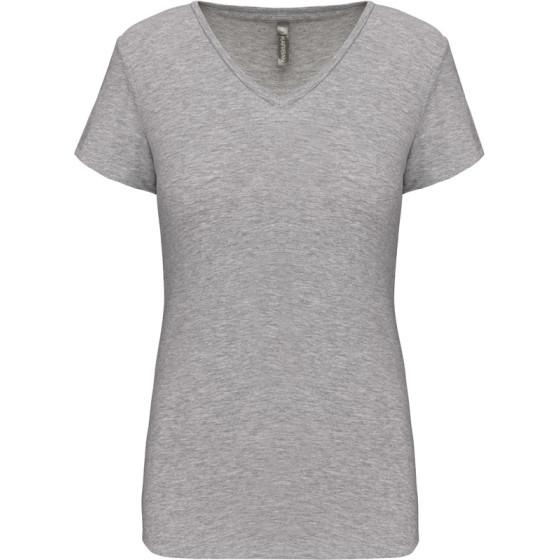 Kariban | K3015 - Damen V-Ausschnitt Stretch T-Shirt