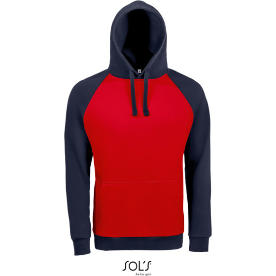 SOLS   Seattle - Unisex Raglan Kapuzen Sweater 2-farbig