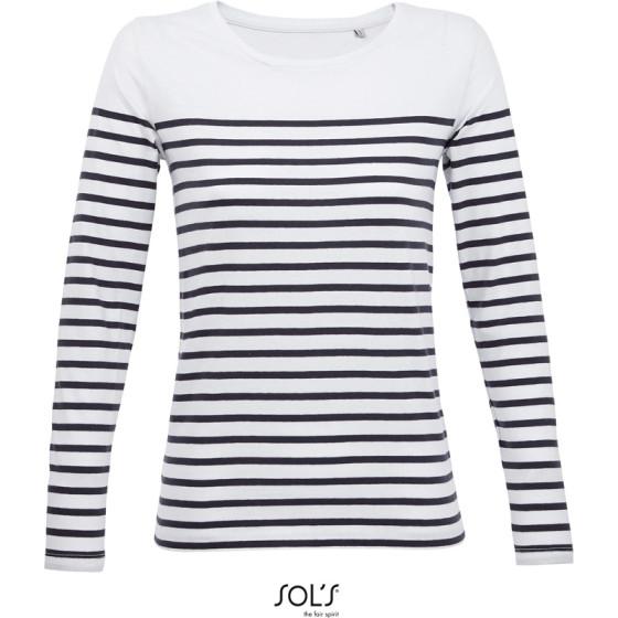 SOLS   Matelot LSL Women - Damen T-Shirt langarm gestreift