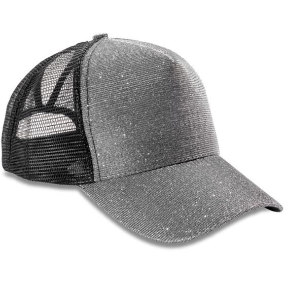 "Result Headwear   RC090X - 5 Panel Mesh Glitzer Kappe ""New York"""