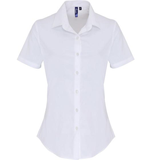 Premier | PR346 - Popeline Stretch Bluse kurzarm
